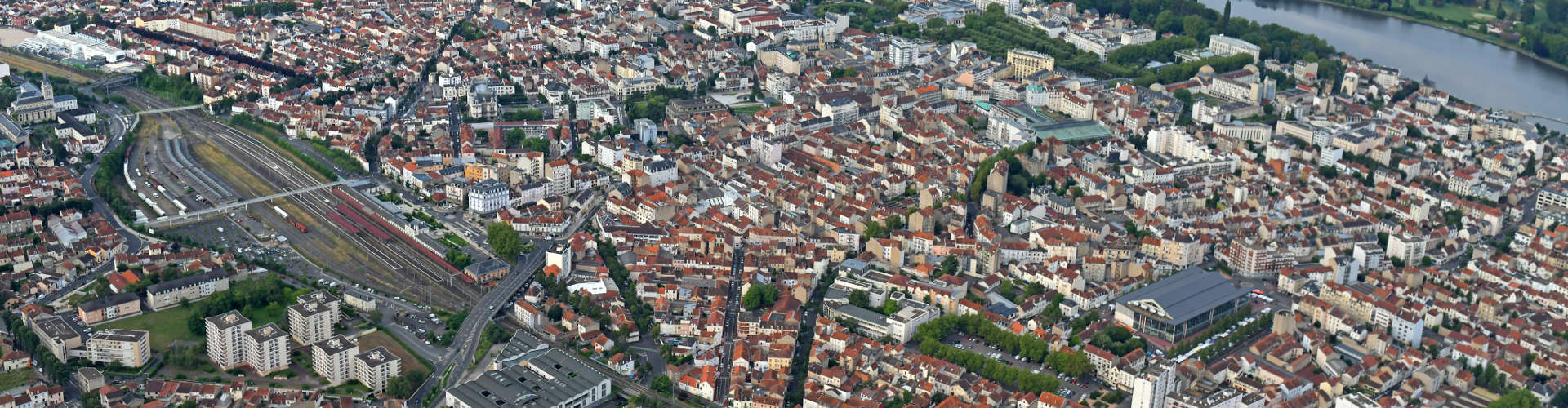 Vue aérienne de Vichy, Allier